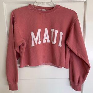 Brandy Melville John Galt Maui Cropped Crewneck